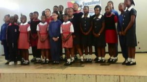 The participants from the different schools, posing proudly!