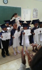 Proud Grade 0's showing their Certificates!