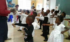 During their karate demonstration.Thank you Sensei Wandile for your dedication! Our little ones always enjoy your lessons!